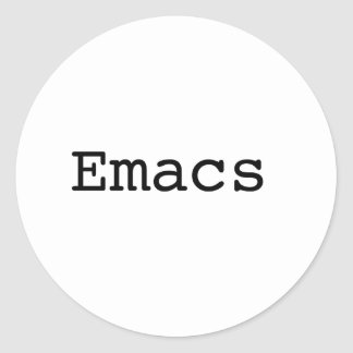 Emacs Classic Round Sticker