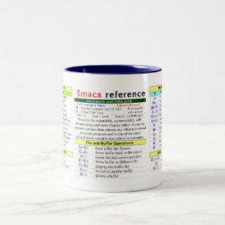 Emacs Quick-Reference Two-Tone Coffee Mug
