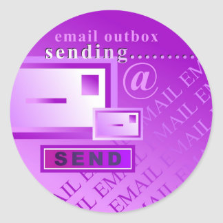 Email Outbox Classic Round Sticker