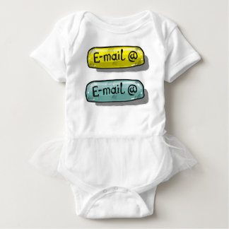EMail Sketch Button Web Baby Bodysuit