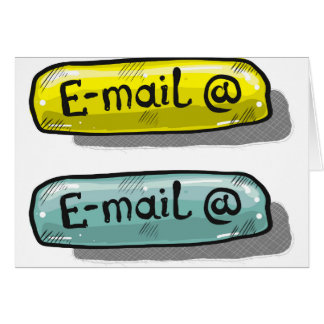 EMail Sketch Button Web Card