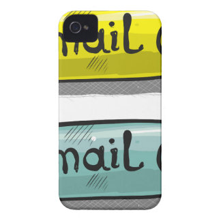 EMail Sketch Button Web iPhone 4 Case-Mate Cases