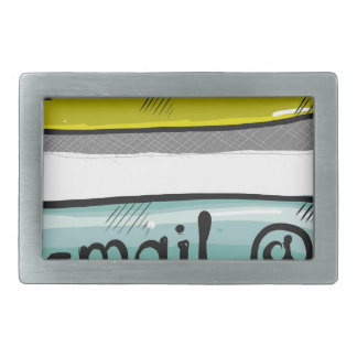 EMail Sketch Button Web Rectangular Belt Buckles