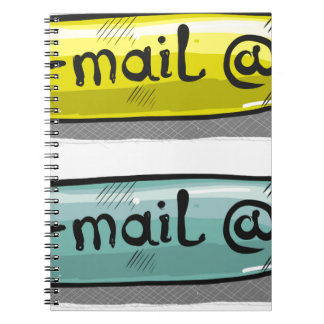 EMail Sketch Button Web Spiral Notebook