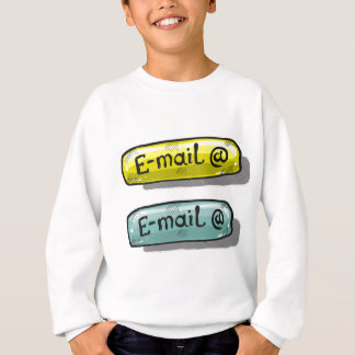 EMail Sketch Button Web Sweatshirt