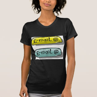 EMail Sketch Button Web T-Shirt