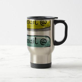 EMail Sketch Button Web Travel Mug