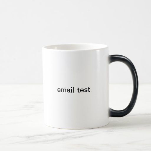 email test mugs