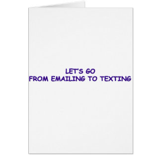 EMAIL TO TEXT CARD
