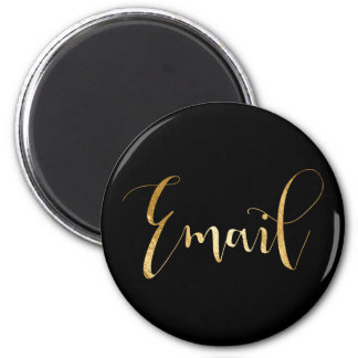 Email Weekly Daly Planner Home Office Black Gold Magnet
