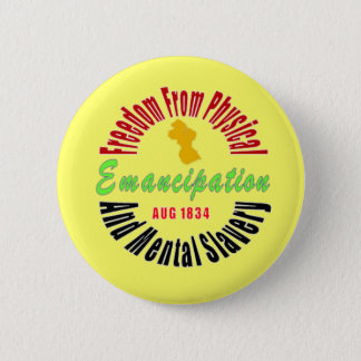 Emancipation end of Slavery Button