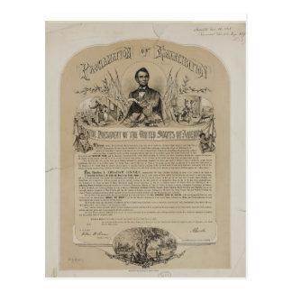 Emancipation Proclamation B B Russell & Co (1868) Postcard