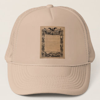Emancipation Proclamation Print Trucker Hat