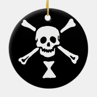 Emanuel Wynn Jolly Roger Ceramic Ornament