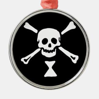 Emanuel Wynn Jolly Roger Metal Ornament