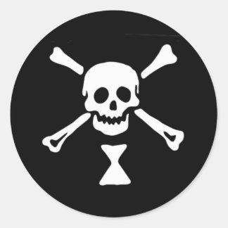 Emanuel Wynne Pirate Flag Classic Round Sticker