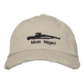 Emb. Mosin Nagant Adjustable Hat W/Soviet Star Embroidered Hat