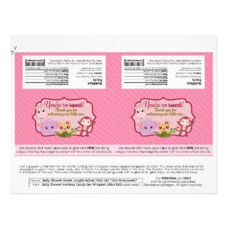 Emballages doux de friandise des bébés 1.55oz de prospectus 21,6 cm x 24,94 cm