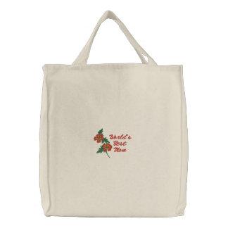 Emballages floraux personnalisables - grande idée sac brodé