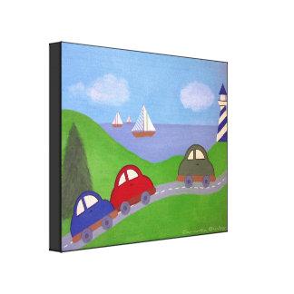 Emballez à la régate - art de mur d'enfants de toiles
