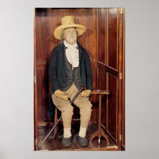 Embalmed body of Jeremy Bentham Poster