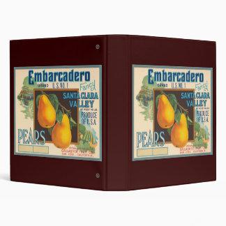Embarcadero Pears Crate Label Binder