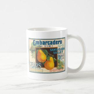 Embarcadero Pears Crate Label Classic White Coffee Mug