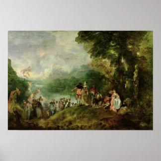 Embarkation for Cythera, 1717 Poster