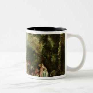 Embarkation for Cythera, 1717 Two-Tone Coffee Mug