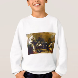 Embarkation of the Pilgrims by Robert W. Weir Sweatshirt