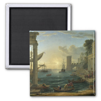 Embarkation of the Queen of Sheba - Claude Lorrain Magnet