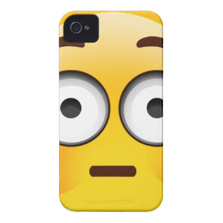 Embarrassed Emoji  with flushed cheeks iPhone 4 Case-Mate Case