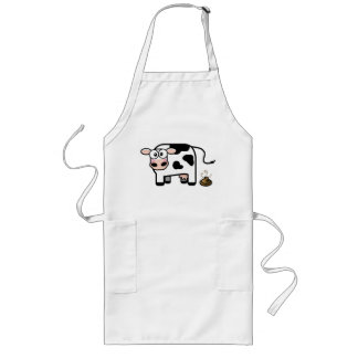Embarrassed Pooping Cow Apron