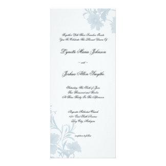 Embassy Floral Blue Wedding Invitations Tea