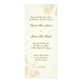 Embassy Floral Ecru Creme Wedding Invitations Tea