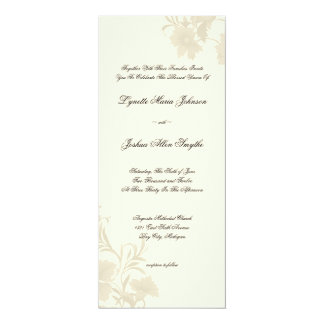 Embassy Floral Ecru Creme Wedding Invitations Tea