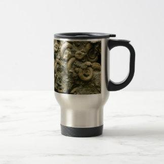 embedded snails fossils travel mug