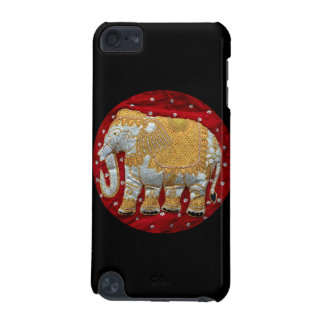 Embellished Indian Elephant Red and Gold iPod Touch 5G Cases