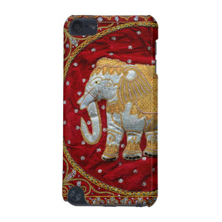 Embellished Indian Elephant Red and Gold iPod Touch (5th Generation) Covers