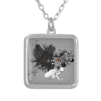 Ember Series Zebra Silver Plated Necklace