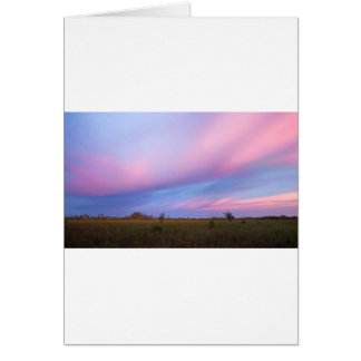 Embers in the Sky over Florida Everglades Card