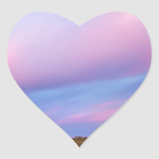 Embers in the Sky over Florida Everglades Heart Sticker