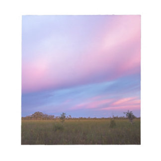 Embers in the Sky over Florida Everglades Notepad