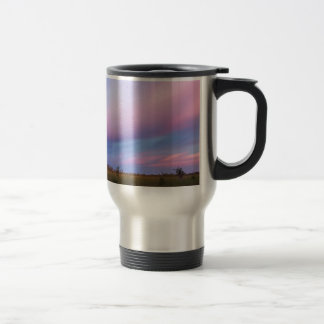 Embers in the Sky over Florida Everglades Travel Mug