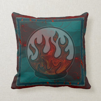 Embers Mixed Media Abstract Throw Pillow