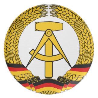 Emblem der DDR - National Emblem of the GDR Dinner Plates