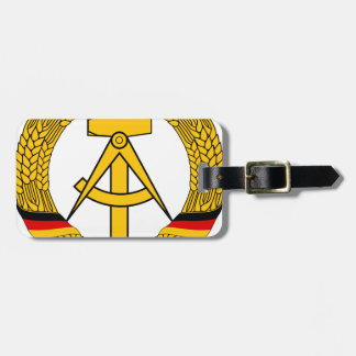 Emblem der DDR - National Emblem of the GDR Luggage Tag