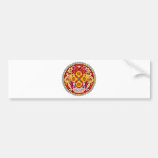 Emblem of Bhutan (རྒྱལ་ཡོངས་ལས་རྟགས་) Bumper Sticker