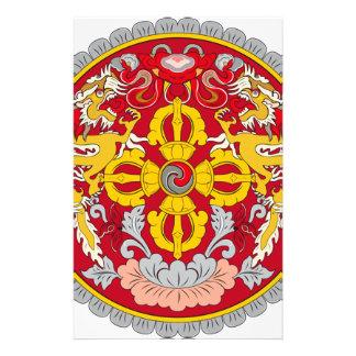 Emblem of Bhutan (རྒྱལ་ཡོངས་ལས་རྟགས་) Customized Stationery