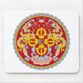 Emblem of Bhutan (རྒྱལ་ཡོངས་ལས་རྟགས་) Mouse Pad